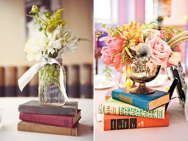 Vintage Wedding Book Decor Ideas  The Perfect Love Story