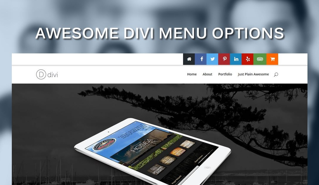 Add cool square social media buttons in divi 39 s top header - Divi font awesome ...