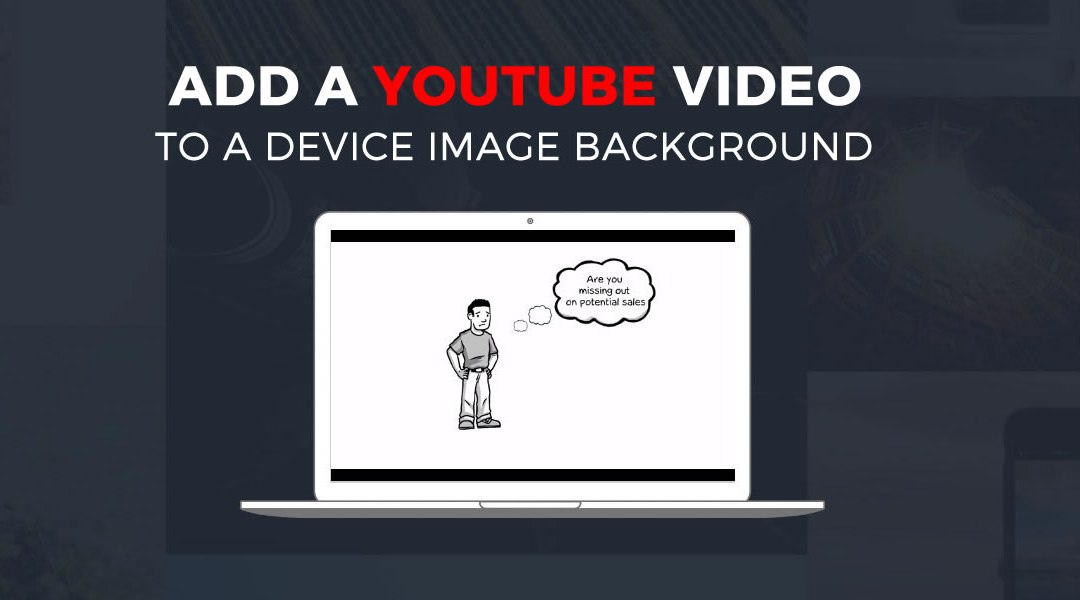 Adding a YouTube Video Within a Laptop Image