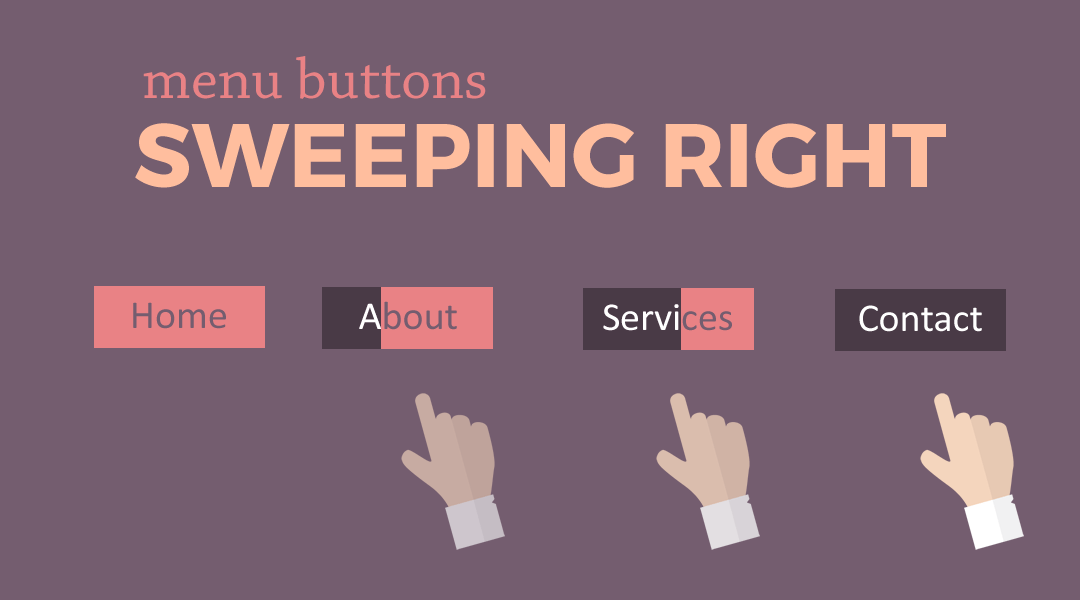 Divi Menu Buttons That Sweep Right