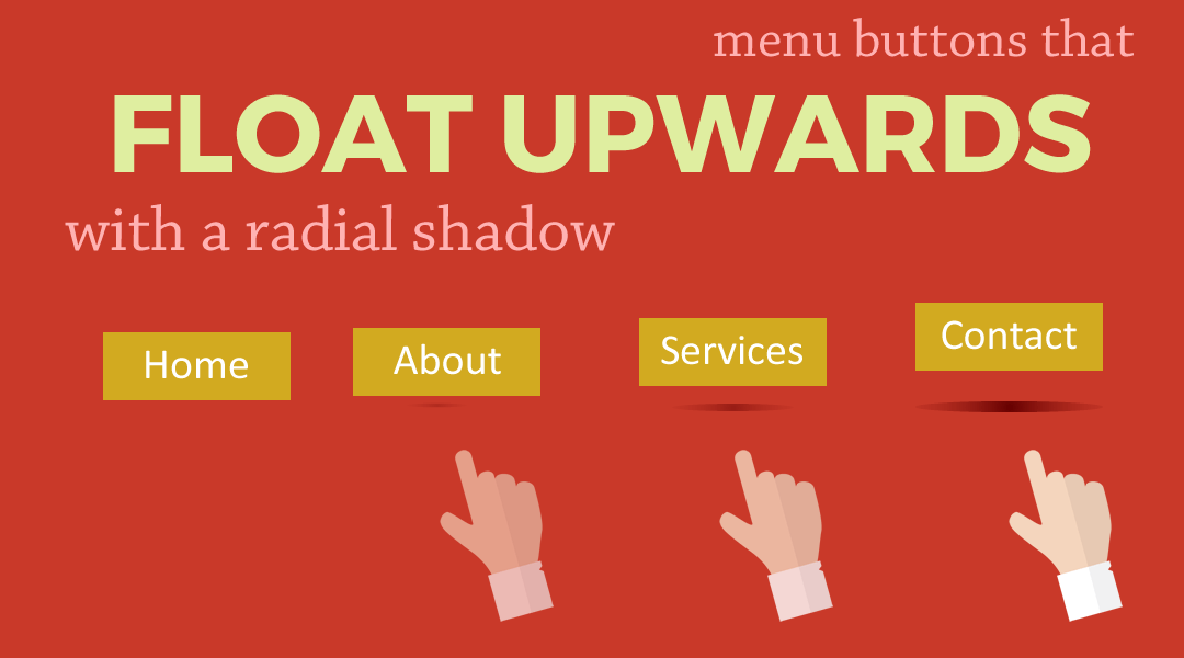 Divi Menu Buttons That Float Upwards with a Radial Shadow Beneath