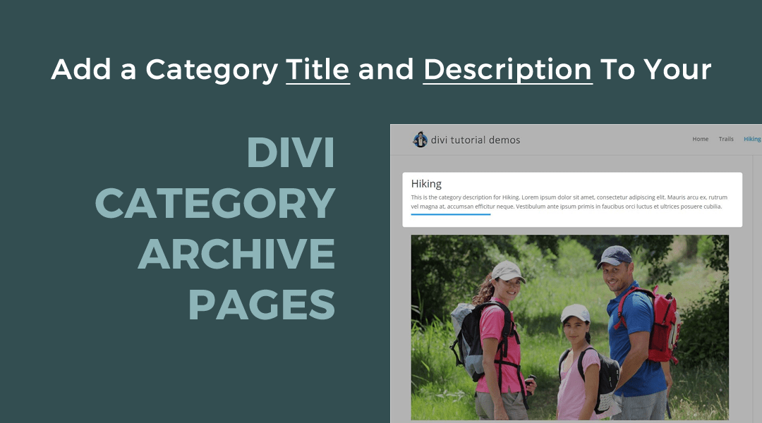 Add a Category Title and Description to your Divi Category Archive Pages