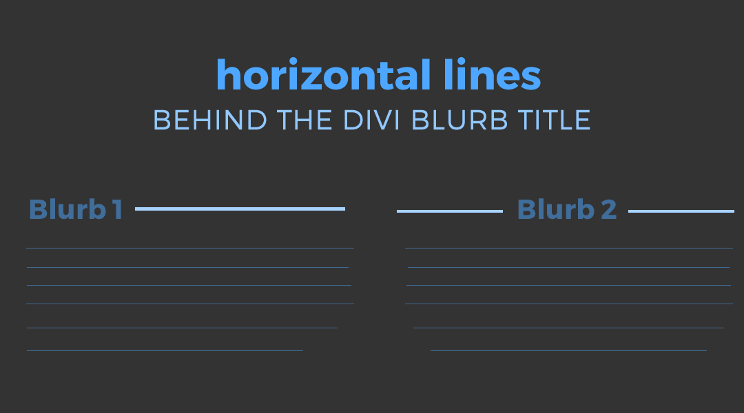 Add a Horizontal Line Behind the Divi Blurb Title