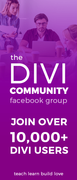 The Divi Community Facebook Group