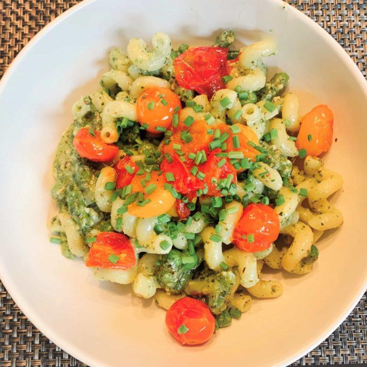 Hazelnut Pesto with Blistered Tomatoes (Easy Pesto Recipe)