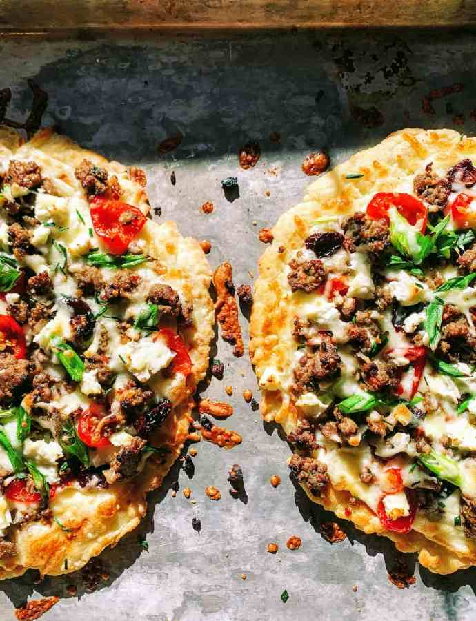 Flatbread Pizza Recipe with Cherry Peppadew Sausage