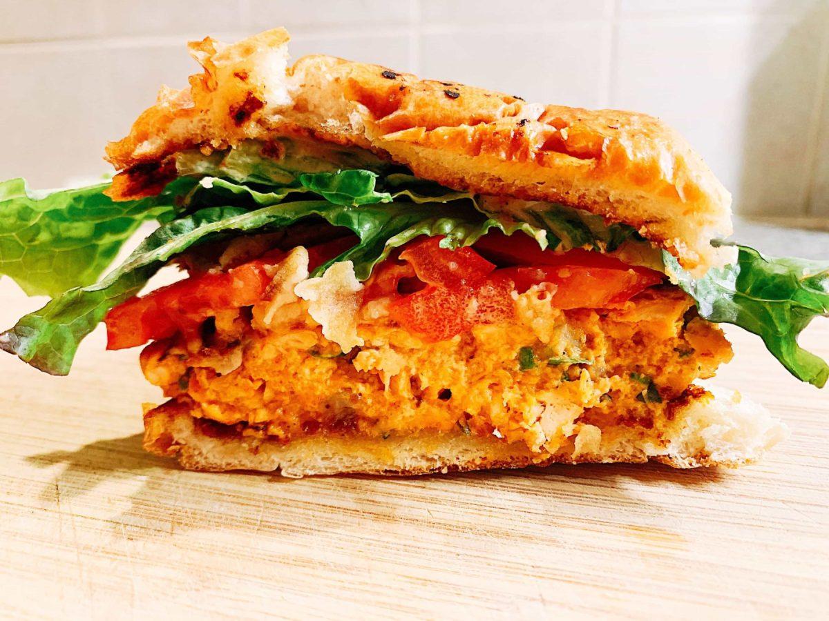 Smoked Paprika Salmon Burger