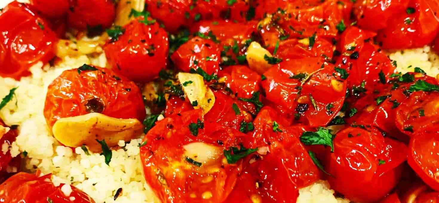 15-Minute Tomato Garlic Couscous