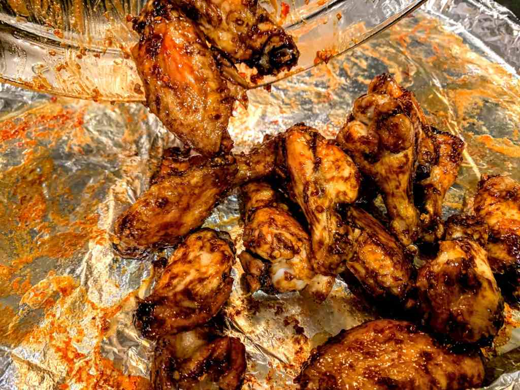Tamarind Confetti Baked Sticky Wings_bake again