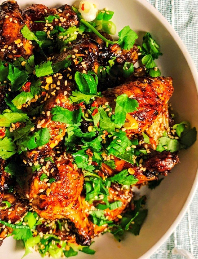 Tamarind Confetti Baked Sticky Wings