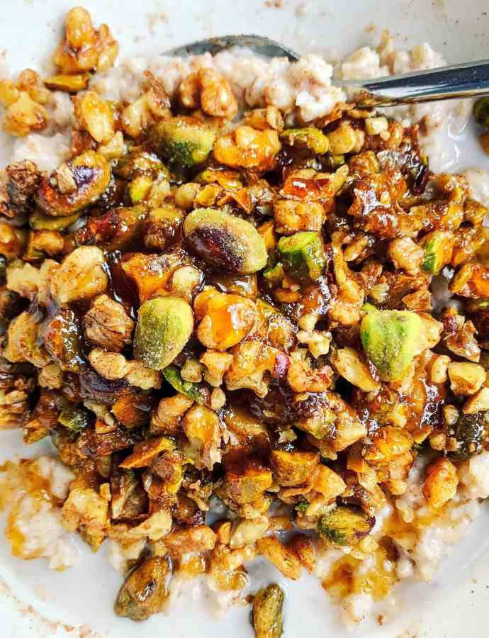 Pistachio & Walnut Baklava Oatmeal