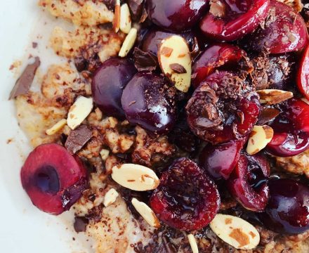 Cherry Chocolate Oatmeal