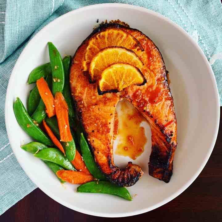 Orange Ginger Salmon_topview