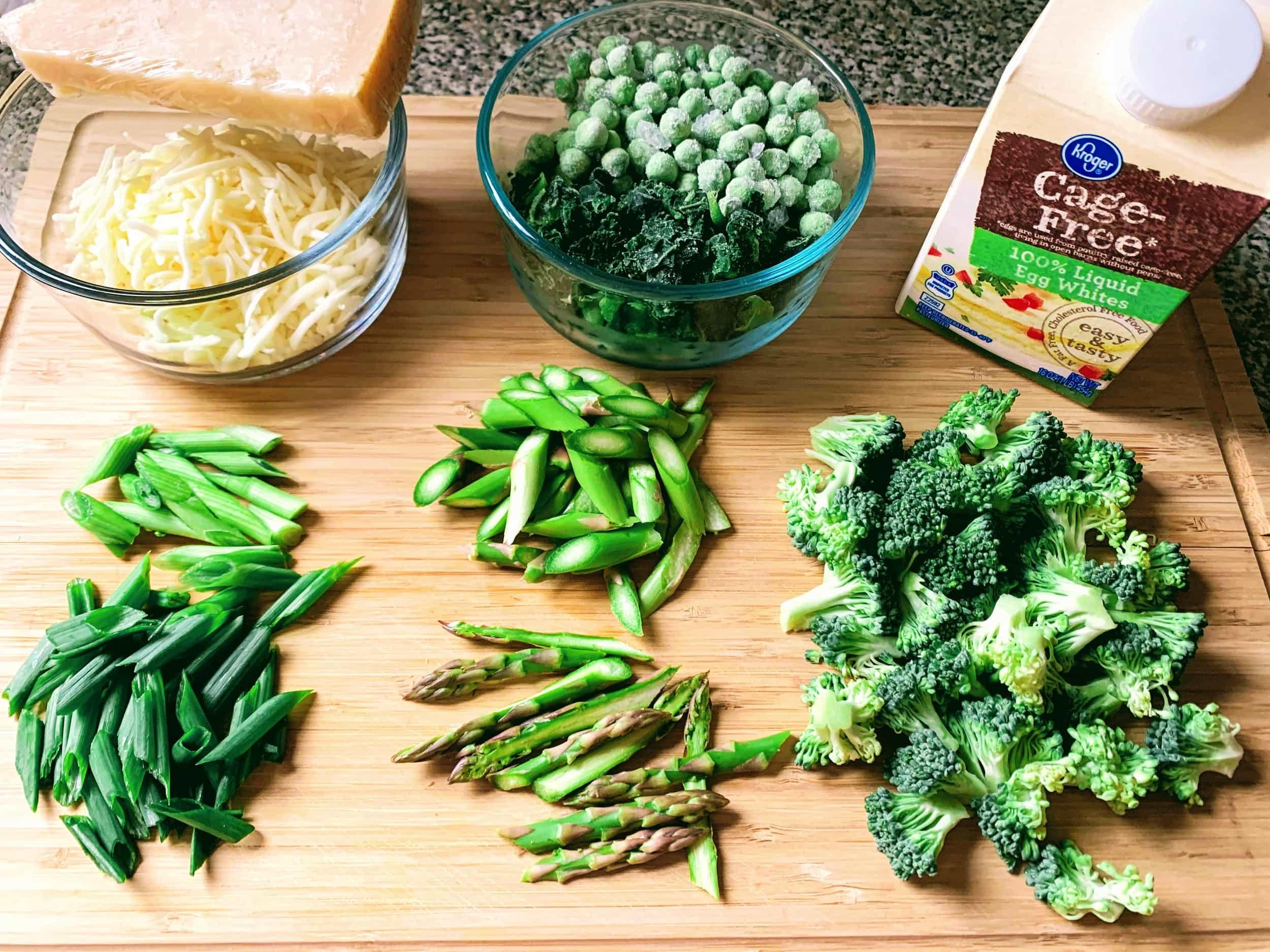 Egg White Frittata Green Veg_ingredients