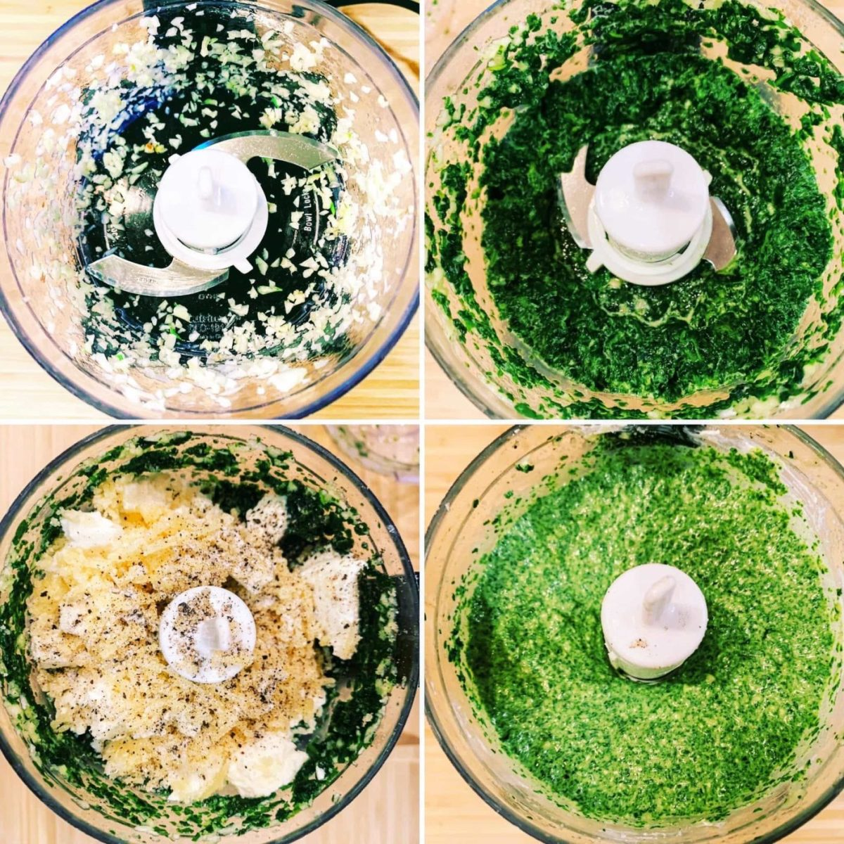 Pasta with Spinach Cream Cheese Sauce_4 steps to make sauce