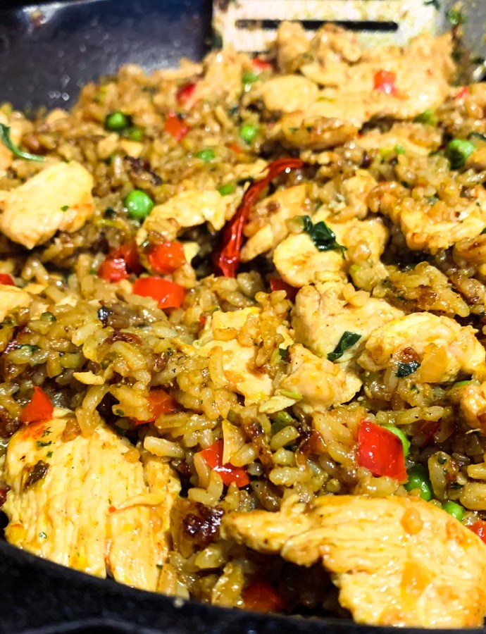Orange Basil Chicken Fried Rice