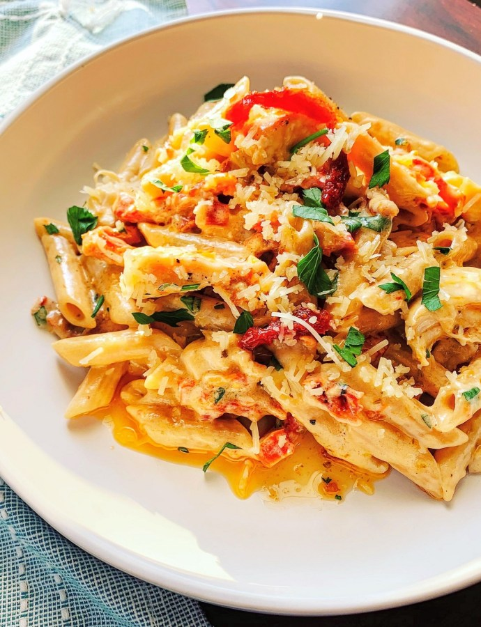 One Pan Chicken & Sun-dried Tomato Pasta
