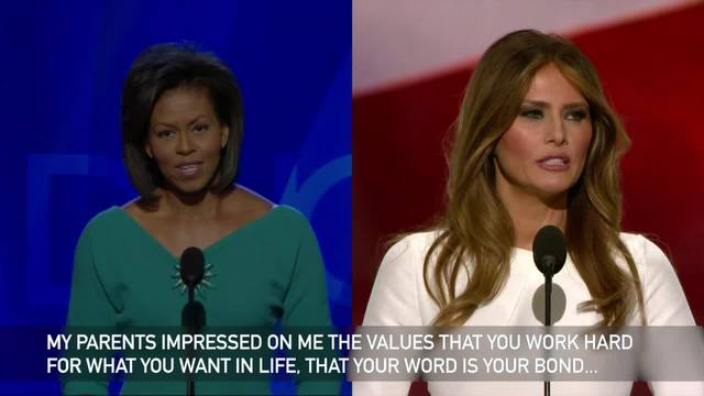 Another Reason Not To Elect Trump: Melania Trump's Speech Similar to Michelle Obama's in 2008