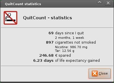 QuitCount Statistics(Example)