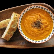 Roasted carrot soup.