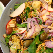 Freekeh and roast cauliflower salad.