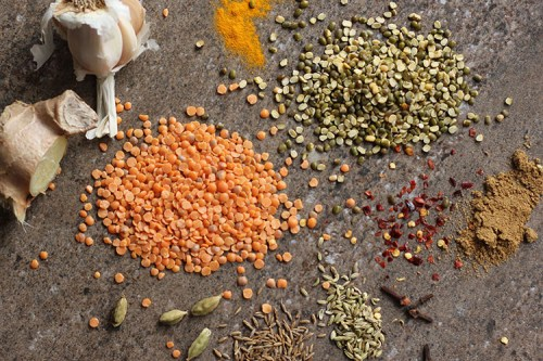 Lentil dal ingredients.