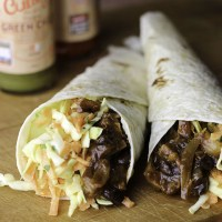 Jackfruit and black bean wraps