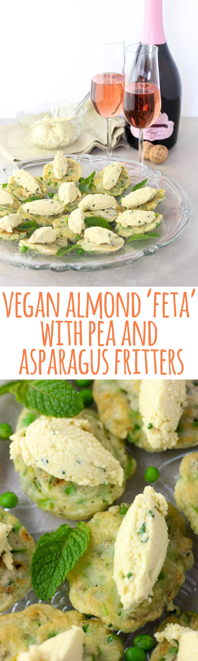 These fresh and elegant mouthfuls topped with a vegan almond 'feta' are a unique hors d'oeuvres, or even a light lunch.
