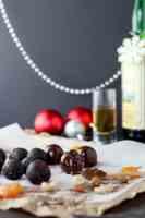 Chocolate and whisky truffles (vegan and gluten free).