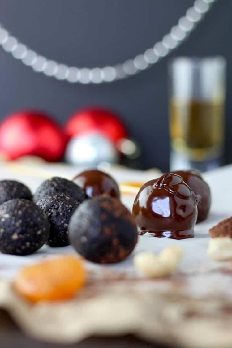Chocolate whisky truffles.