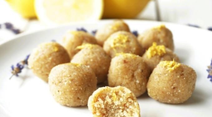Lemon lavender truffle bites.
