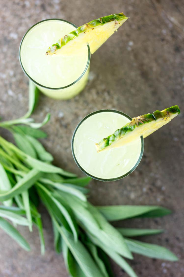 Pineapple and sage mojito.