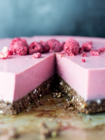 Raspberry and lime coconut cream pie.