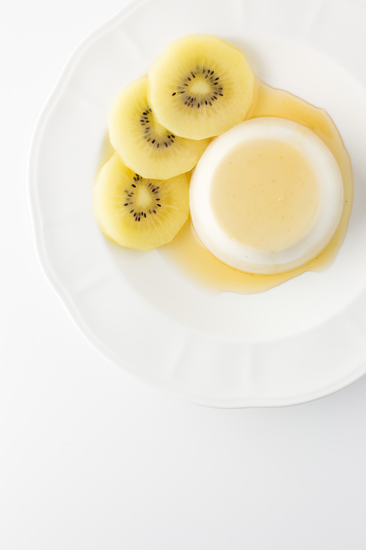 Ginger and coconut vegan panna cotta.