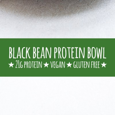 Boost your lunch game with a nutrient dense and balanced protein bowl, made with a simple combo of black beans, sweet potato and spinach with tahini dressing.