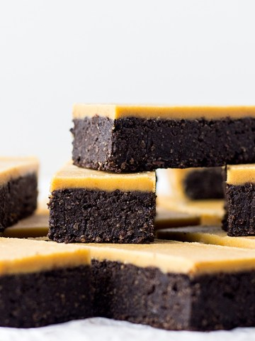 Chocolate peanut butter fudge bars.