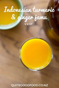 Turmeric and ginger jamu, an anti-inflammatory health tonic to add to your arsenal of home remedies. Vegan and gluten free.