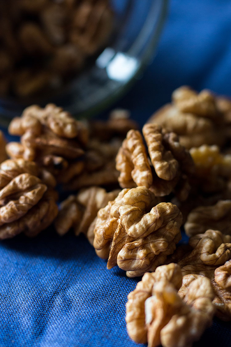 Fresh walnuts.