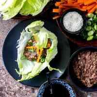 Oh mommy umami lettuce wraps from Fuss-Free Vegan: 101 Everyday Comfort Food Favorites, Veganized. (Vegan and gluten free).