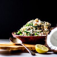 Urab sayur: Balinese coconut and vegetable salad