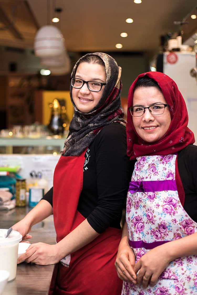 Nikbakht Danish (right), Home Kitchen head chef.