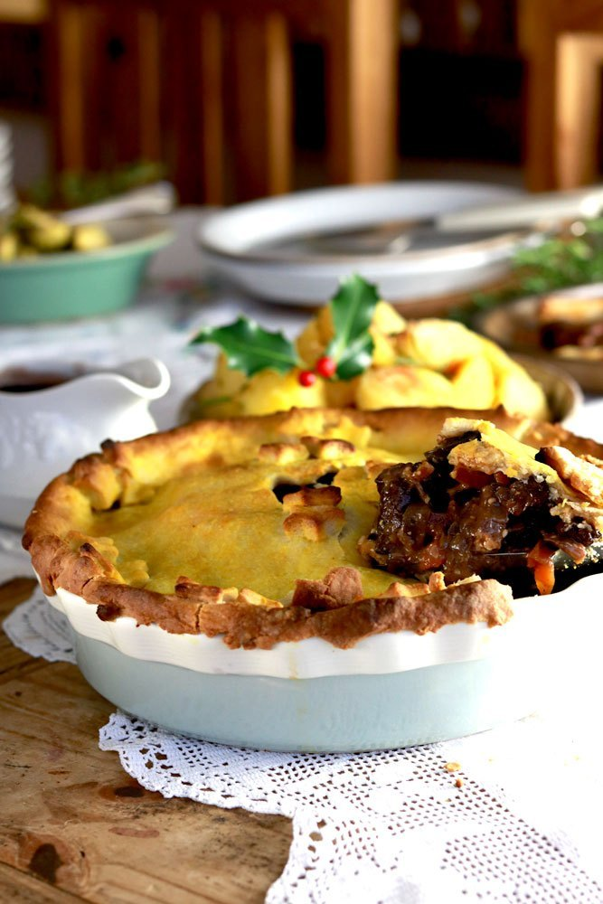 Vegan mushroom bourguignon pie by The Vegan Larder