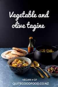 Vegetable and olive tagine.