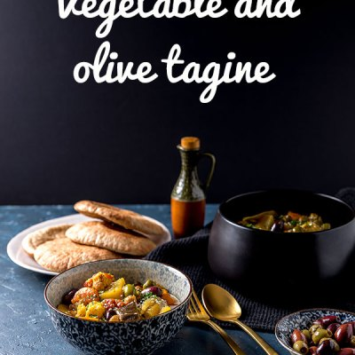 Vegetable and olive tagine.