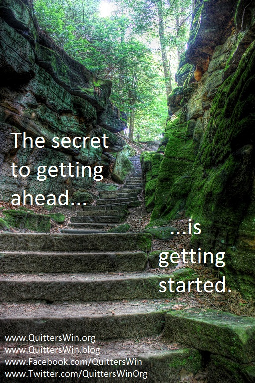 """""""The Secret to Getting Ahead"""""""