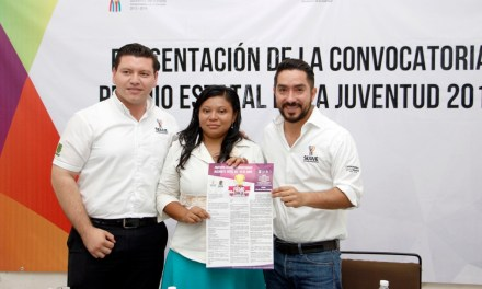 Convoca Sejuve al Premio Estatal de la Juventud