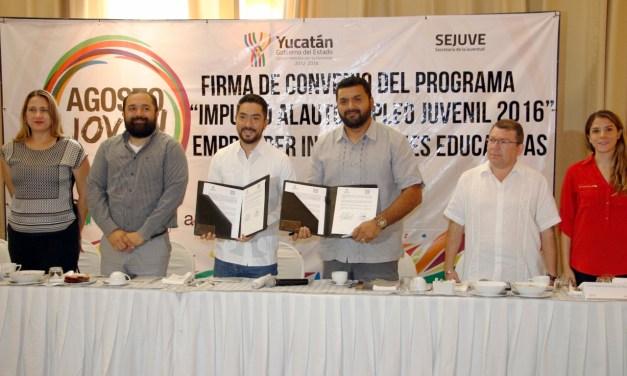 Sejuve hace alianza con instituciones educativas de todo el estado