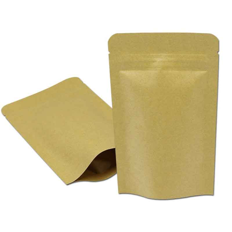 Coffee Nuts Powder Packing Bag ALUMINIUM POUCH// KRAFT PAPER//HEAT SEAL ZIP LOCK