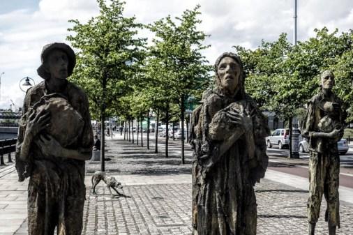 Famine Memorial Statue in Dublin