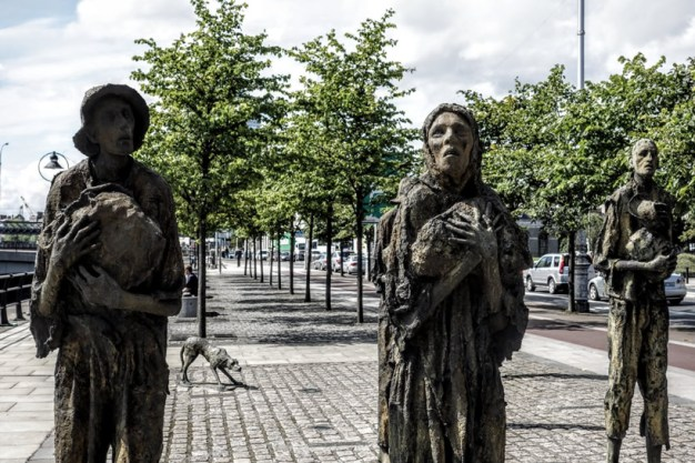 Famine Memorial Statue in Dublin